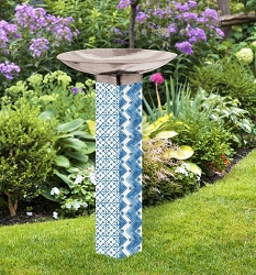 Windjammer Art Pole Birdbath 5x5
