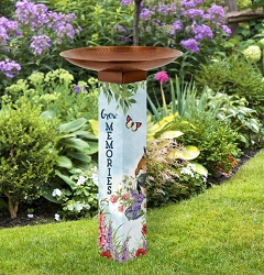Sweet Home Art Pole Birdbath 5x5