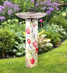 Bloom with Grace Art Pole Birdbath 5x5