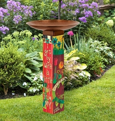 I Get By Art Pole Birdbath 5x5