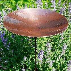 Achla Burnt Copper Birdbath with Stake