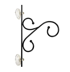 Black Metal Scroll Window Hanger Set of 2