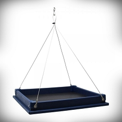 Recycled Poly Large Hanging Platform Feeder Blue
