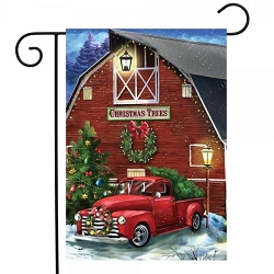 Briarwood Lane Christmas Tree Farm Garden Flag