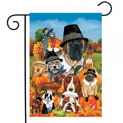 Briarwood Lane Give Thanks Dogs Garden Flag