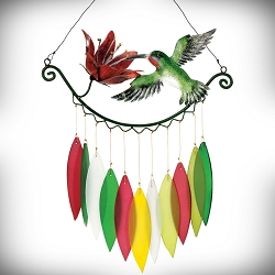 Hummingbird & Flower Wind Chime