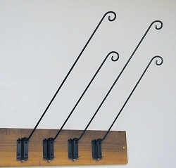 Wrought Iron 5-Position Wall Bracket 24