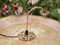 Avian Bird Bath Dripper with Pebble Base