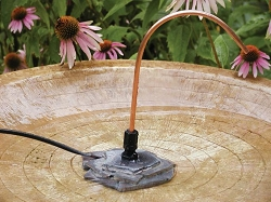 Avian Bird Bath Dripper with Rock Base