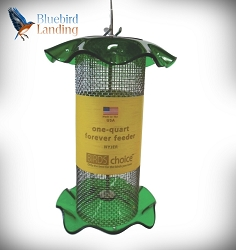 Forever Nyjer Feeder 1 Quart Green Set of 2