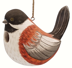 Fat Towhee Birdhouse
