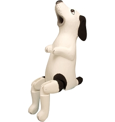 Dog Black & White Hinged Birdhouse