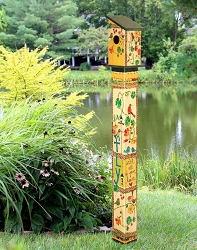Birdhouse Art Pole 5' Fly with All Your Heart