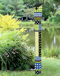 Birdhouse Art Pole 5' Gingham Buddies