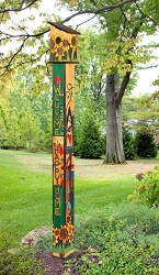 Birdhouse Art Pole 6' Sing Out Loud