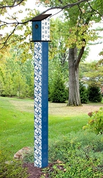 Birdhouse Art Pole 6' Windjammer