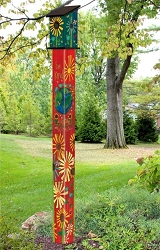 Birdhouse Art Pole 6' Magic of Kindness