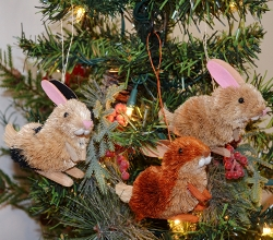 Brushart Rabbit Assorted Ornament