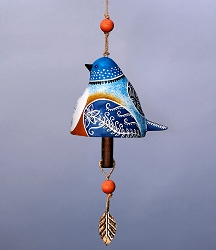 Bird Song Ceramic Bell Bluebird