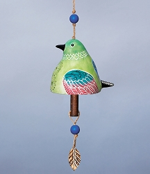 Bird Song Ceramic Bell Hummingbird