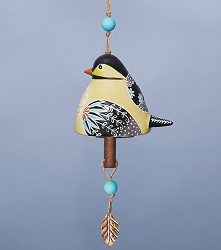 Bird Song Ceramic Bell Chickadee