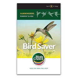 Bird Saver Window Cling Decals Hummingbird 32/Pack