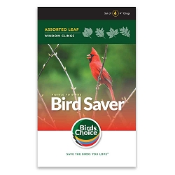 Bird Saver Window Cling Decals Assorted Leaf 32/Pack