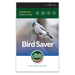 Bird Saver Window Cling Decals Snowflake 32/Pack