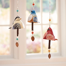 Bird Song Ceramic Bell Gift Set of 3
