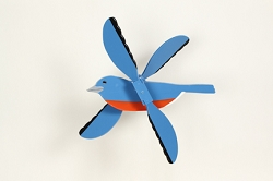 Classic Flying Bluebird Whirligig