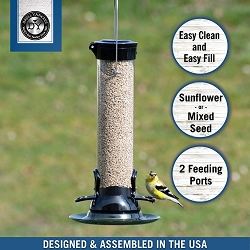 Droll Yankees Onyx Clever Clean Sunflower/Mixed Seed Feeder 12