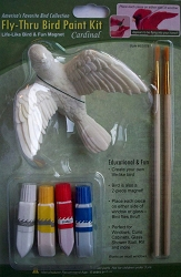 Fly-Through Window Bird Ornament Paint Kit Cardinal
