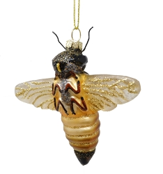 Honeybee Blown Glass Ornament