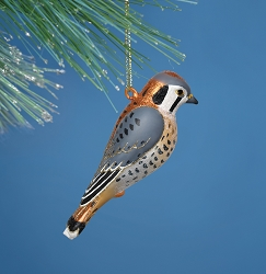Cobane Studio American Kestrel Blown Glass Ornament