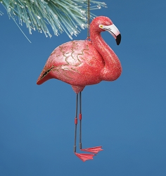 Cobane Studio Flamingo Blown Glass Ornament