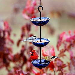 Hanging Poppy Bird Feeder Triple