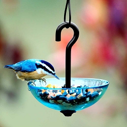 Hanging Poppy Bird Feeder Single