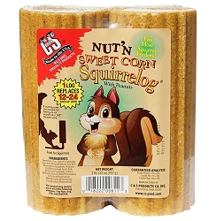 Nut-N-Sweet Corn Squirrel Log 16 oz. 6/Pack