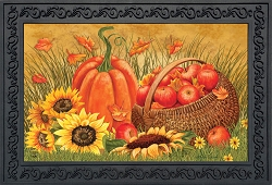 Briarwood Lane Pumpkin and Apples Doormat