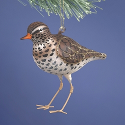Cobane Studio Sandpiper Blown Glass Ornament