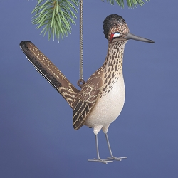Cobane Studio Greater Roadrunner Blown Glass Ornament
