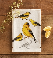 Field Guide Flour Sack Towel Goldfinch Set of 2