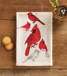 Field Guide Flour Sack Towel Cardinal Set of 2