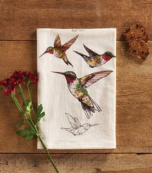 Field Guide Flour Sack Towel Hummingbird Set of 2