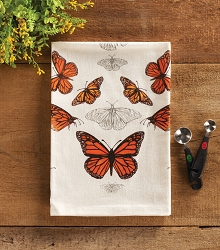 Field Guide Flour Sack Towel Monarch Butterfly Set of 2