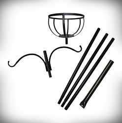Best Flower Basket Pole Set with 2 Hangers