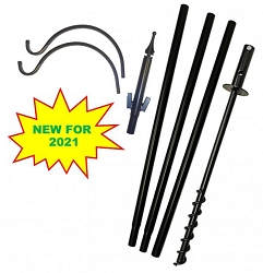 Best Value 5-Piece Bird Feeder Pole Set 2-Arm