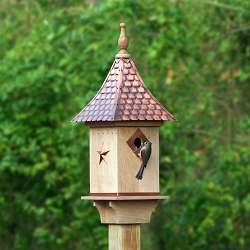 Villa Copper Shingled Roof Bird House