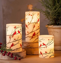 Cardinal Flameless LED Pillar Candle 3-Piece Set