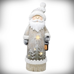 LED Santa Door Greeter with Lantern